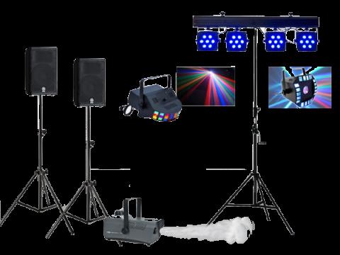 Pack basico sonido + luces fiesta