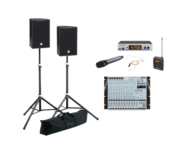 Pack basico sonido + micrófono inalámbrico